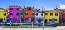 Colorful Street With Canal In ...