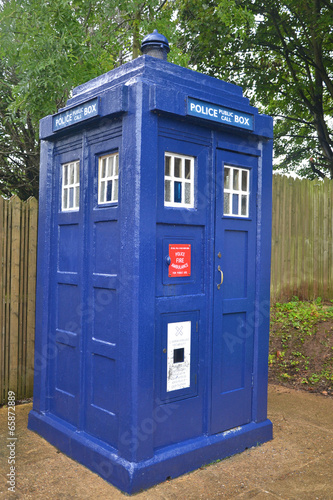 British Police Box Tablou Canvas