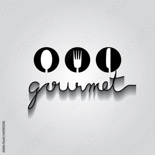 Fotografie, Obraz  gourmet typo vector, EPS 10