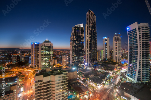 Fotografija  Surfers Paradise city skyline, Gold Coast, Queensland,