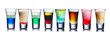 canvas print picture - Colorful shot drinks