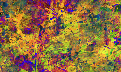 Autumn leaves artistic background from printed leaves
