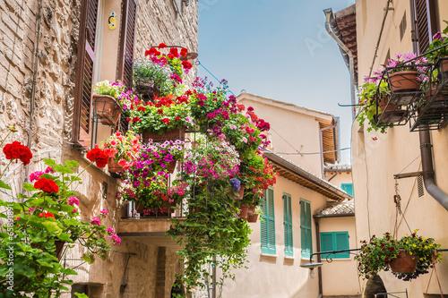 Fotografie, Obraz  Balcone con fiori