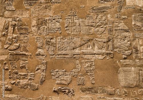 In de dag Egypte Hieroglyphic of pharaoh civilization in Karnak temple, Egypt