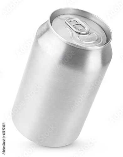 Fotomural 330 ml aluminum soda can isolated on white with clipping path