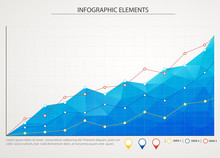 Blue Business Chart Graph With...