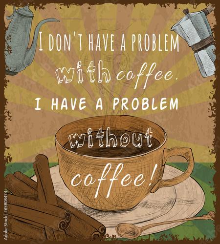plakat-retro-filizanka-kawy