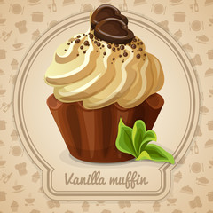 FototapetaVanilla muffin label