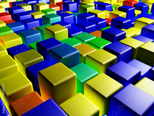 Fototapety, obrazy: colored cubes