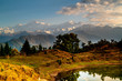 Deoria Tal Lake and Himalayas at sunrise
