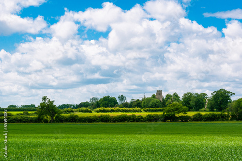 View of rural landscape Bury St Edmunds, Suffolk, UK Canvas Print