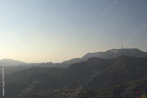 Fotomural Los Angeles-USA, October, 3:View at Hollywood Hill in Los Angele