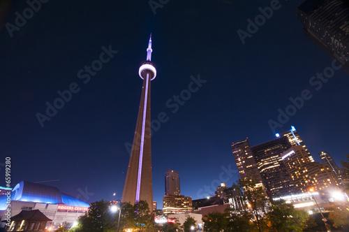 Poster CN Tower and Toronto skyline - TORONTO, CANADA - MAY 31, 2014