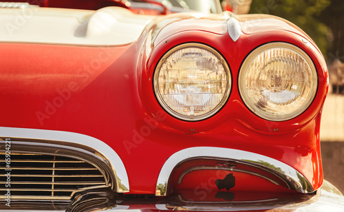 Vintage cars retro car headlights