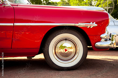 Keuken foto achterwand Vintage cars classic car wheel