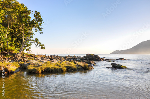 Beach of Bertioga (Brazil) Slika na platnu