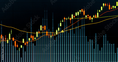 Business screen stock exchange data graph background - Buy