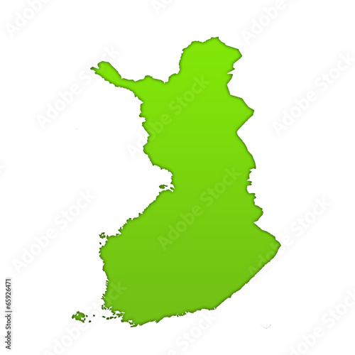 Fotografie, Obraz  Finland country icon map