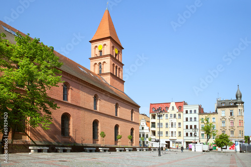 TORUN, POLAND - MAY 08, 2014: New Town Market in Torun