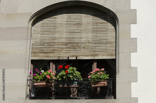 fenêtre cintrée avec un store