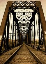 Railroad Trestle Bridge And RR...