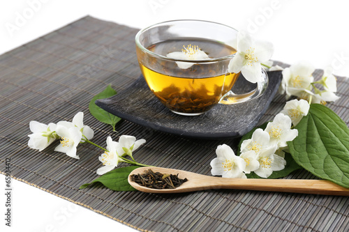 Jasmine tea on table - 65934412