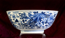 Antique Chinese Blue And White...