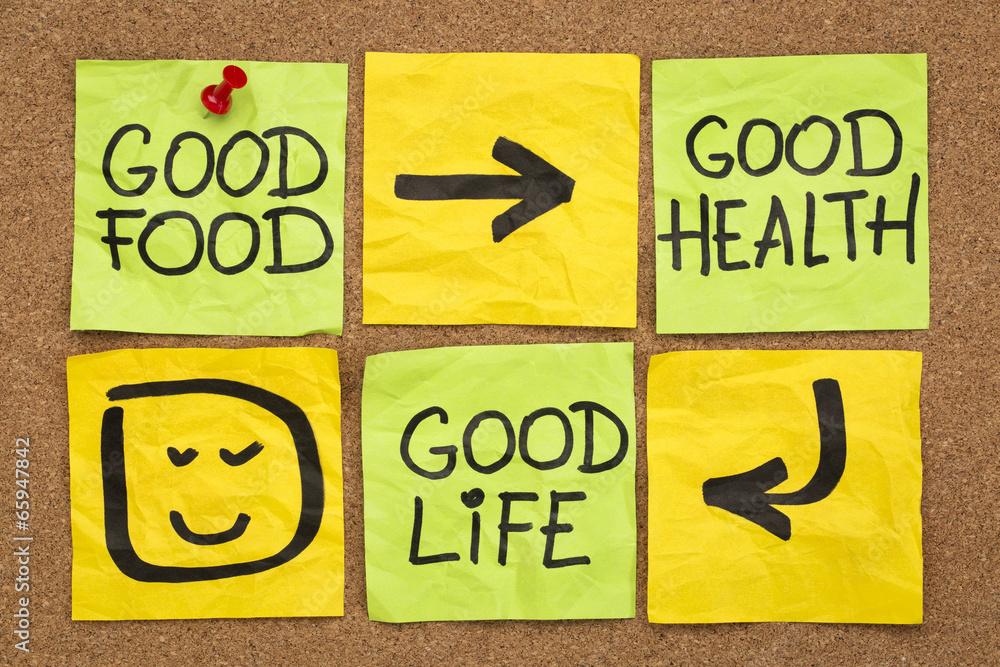 Fototapeta good food, health and life