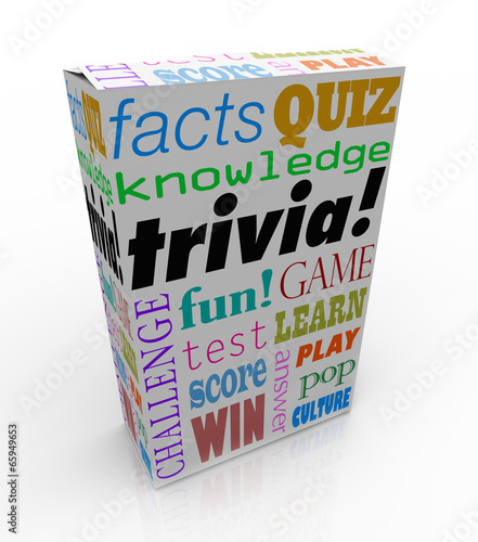 Trivia Game Box Package Fun Questions Answers Knowledge Quiz - Buy