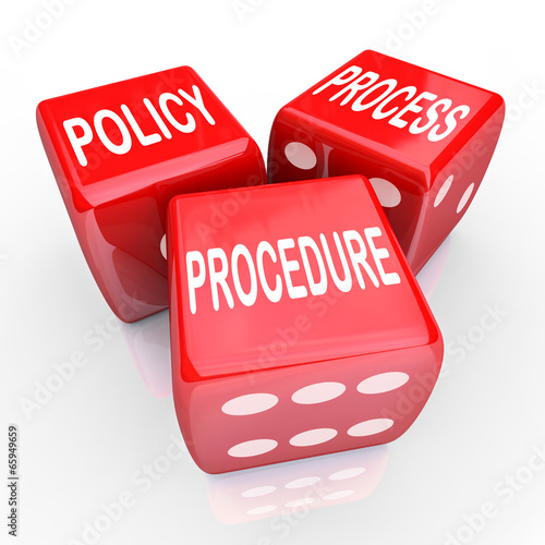 Valokuva  Policy Process Procedure 3 Red Dice Company Rules Practices