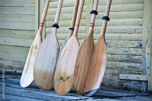 Canvas Print Kayak paddles oars
