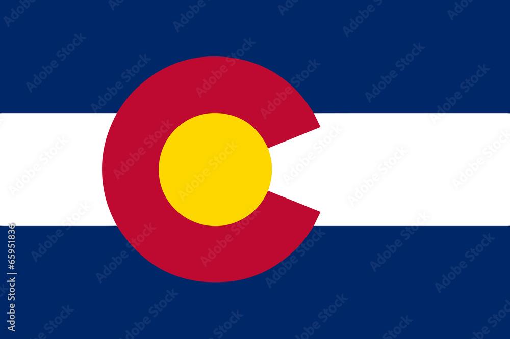 Fototapety, obrazy: Colorado State Flag
