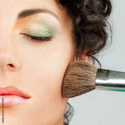Fotografie, Obraz  Woman Make up - square