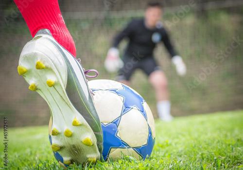 Photo  soccer penalty