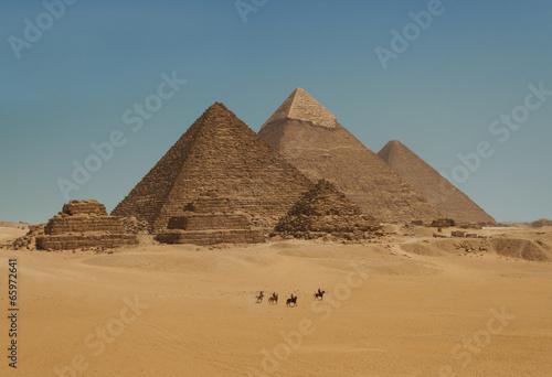 Egypt Pyramids of Giza in Cairo, Egypt