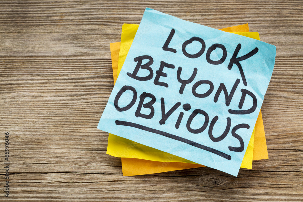 Fototapety, obrazy: look beyond obvious note