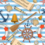 Nautical seamless pattern