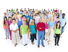 Multiethnic Group Of People Is...