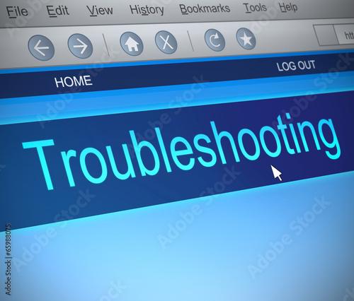 Fotografía  Troubleshooting concept.