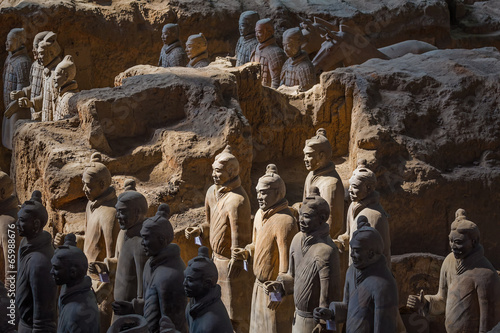 La pose en embrasure Xian The Terracotta Army or the