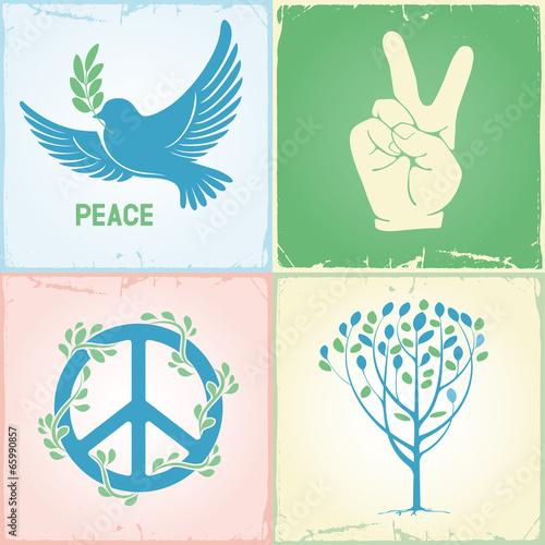 Set of peace symbols Poster