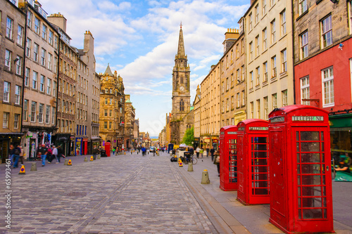 Photo  street view of Edinburgh, Scotland, UK