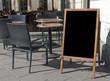 canvas print picture - Empty menu board