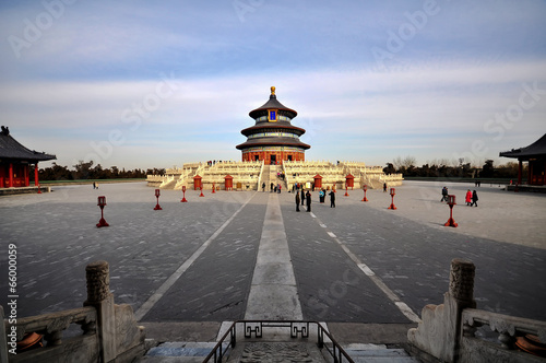 In de dag Beijing Temple of Heaven (Tian Tan) in Beijing