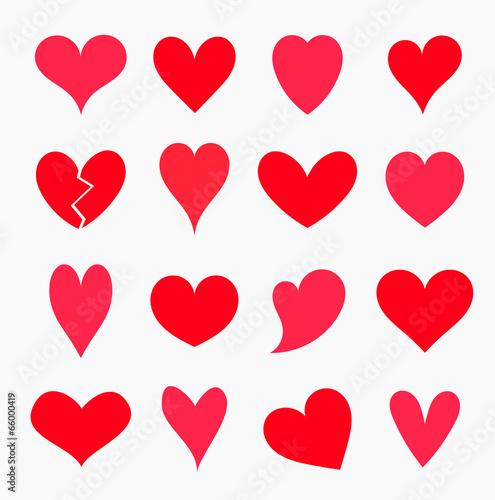 Fotografia  Set of hearts