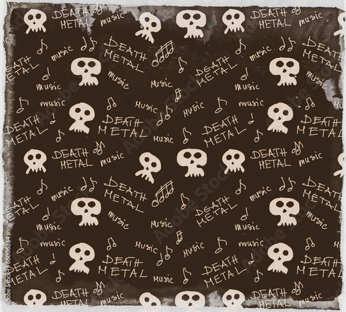 Fotografie, Tablou  old grunge death metal texture and pattern
