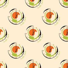 Panel Szklany Sushi seamless pattern