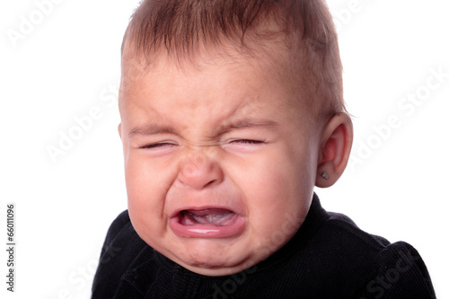 Canvas Print baby crying