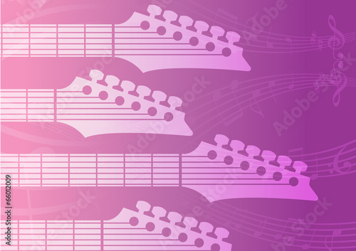 Staande foto Kasteel electric Guitar headstocks background