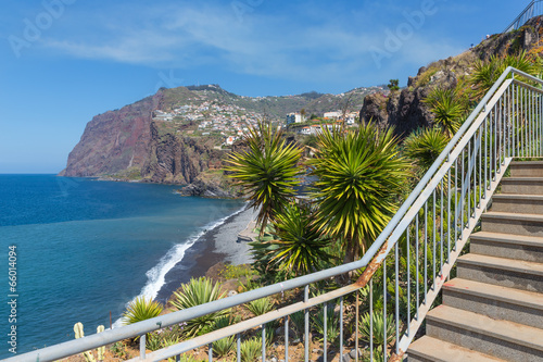 Foto op Canvas Restaurant Beautiful coast of Madeira Island with hiking trai